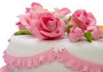 Торт с цветами из мастики и съесть хочется и красоту жалко