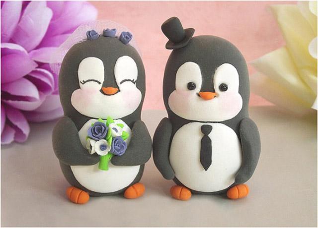 Пингвины из мастики