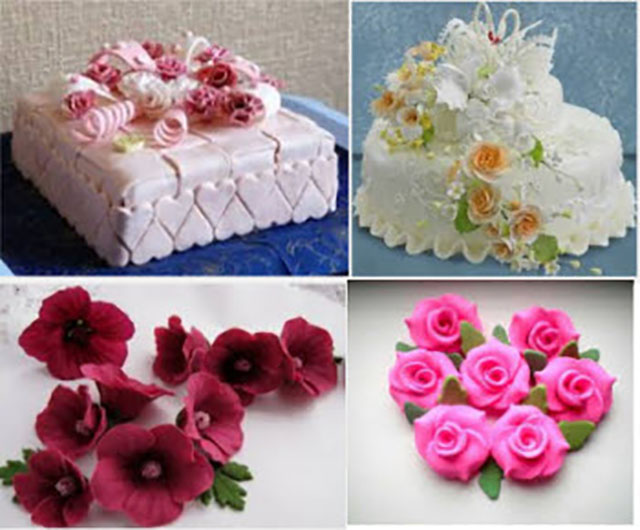 Цветочки на торт своими руками 17