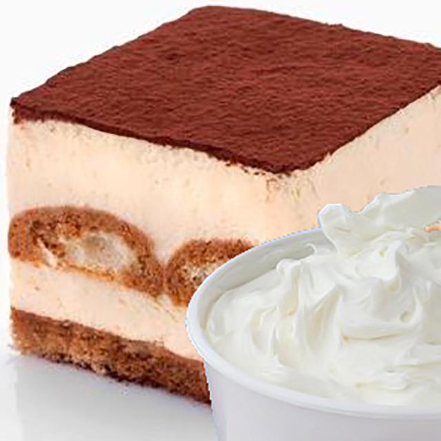 Кусок торта суфле и крема