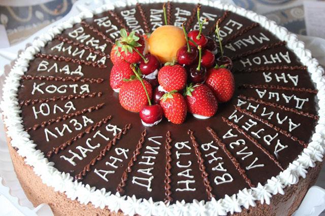 Порционный именной торт