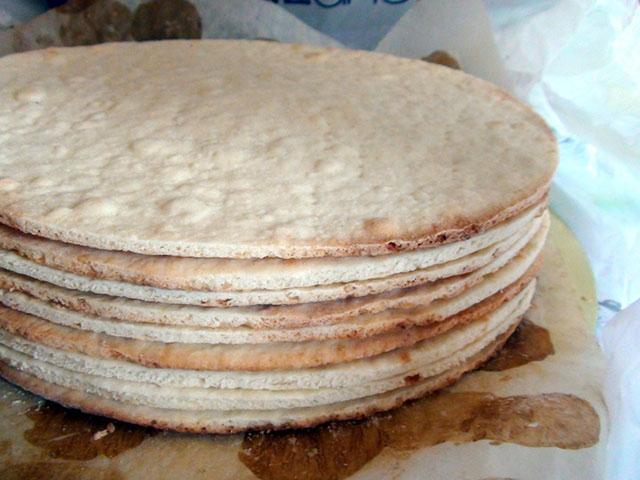 Коржи для торта наполеон