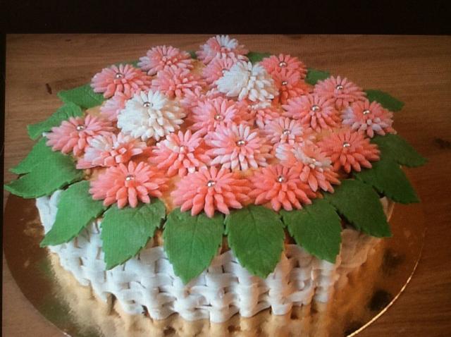 Красивый торт с цветами
