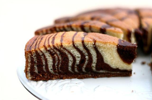 Кусок торта зебра