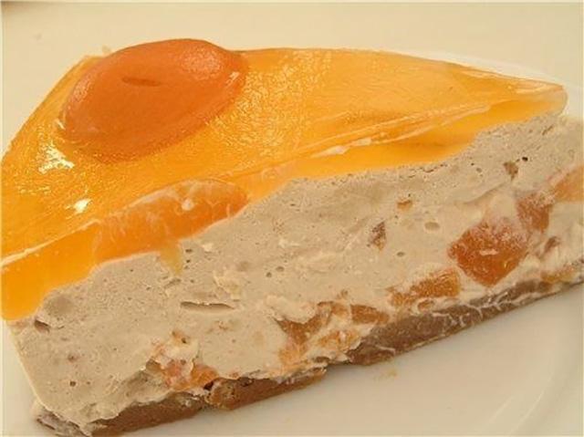 Торт с заварным кремом и желе