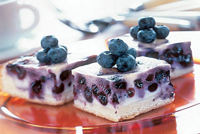 Творожный торт с голубикой