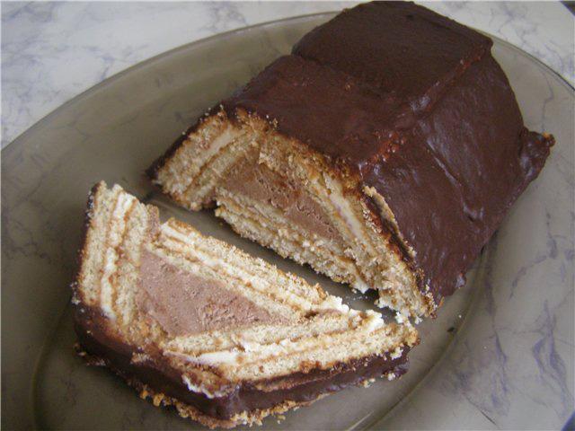 Торт домик из печенья