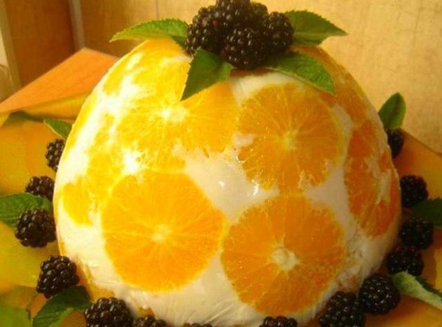 Творожно - фруктовый торт
