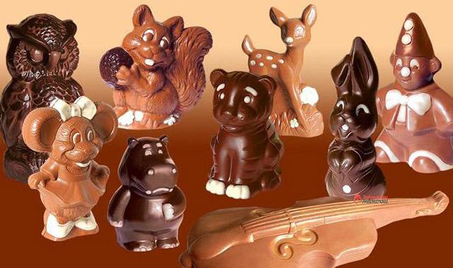 Фигурки зверей из шоколада