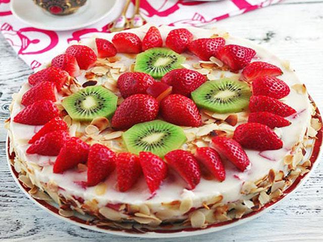 Торт из йогурта с киви