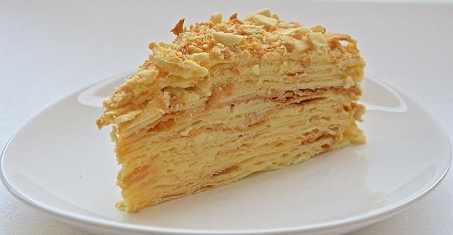 Торт наполеон классический рецепт с заварным кремом с фото пошагово