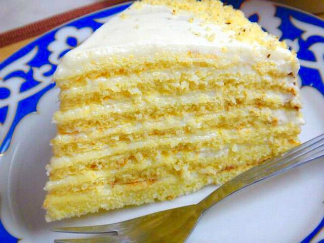 Торт молочная девочка с заварным кремом