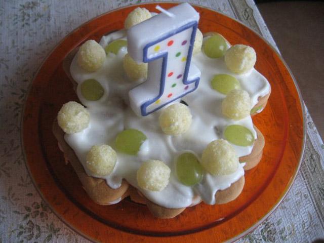 Тортик на 1 год своими руками 31