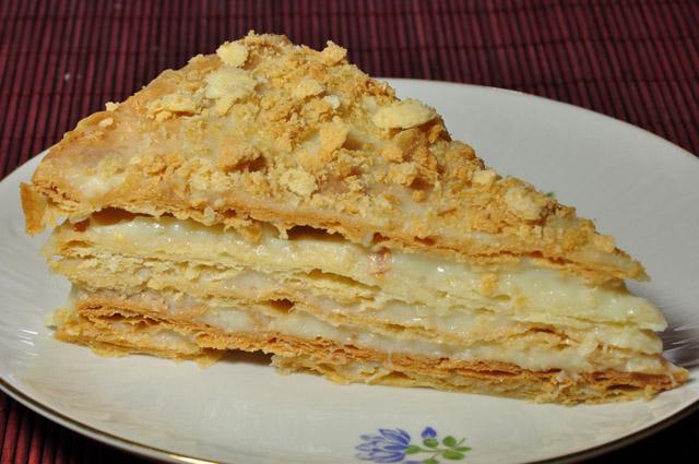 Торт Наполеон с орехами