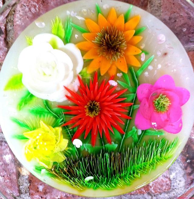 Желейный торт с цветком
