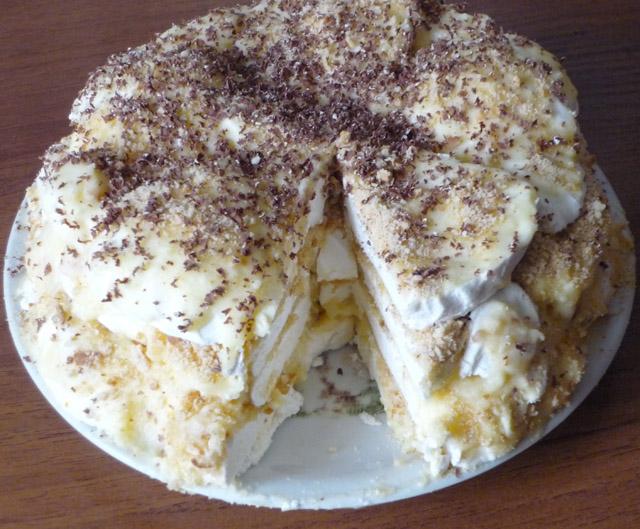Торт с зефиром