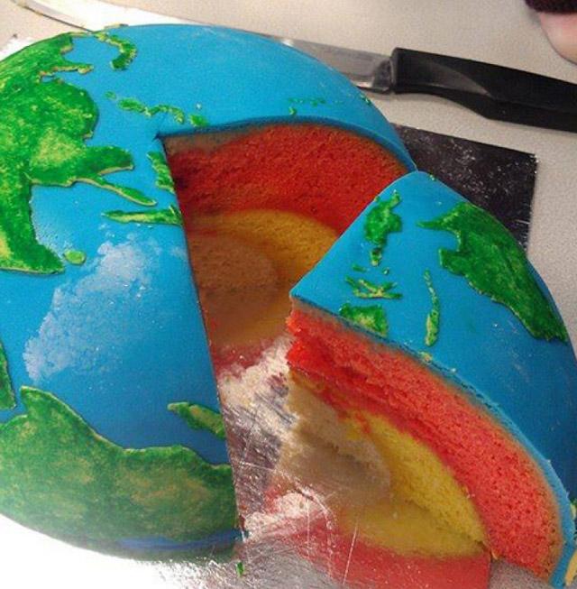 Торт в виде Земли