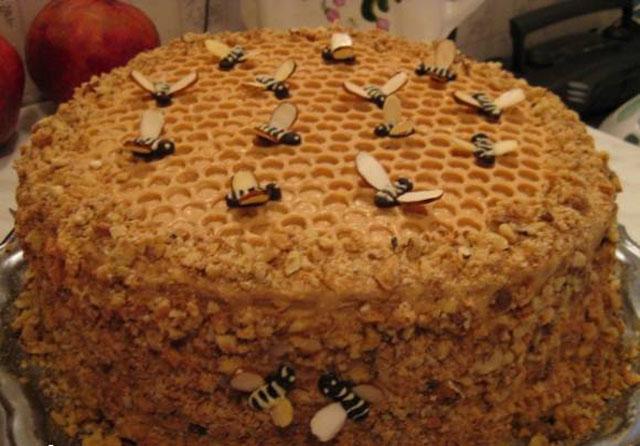 Медовый торт в мультиварке рецепт