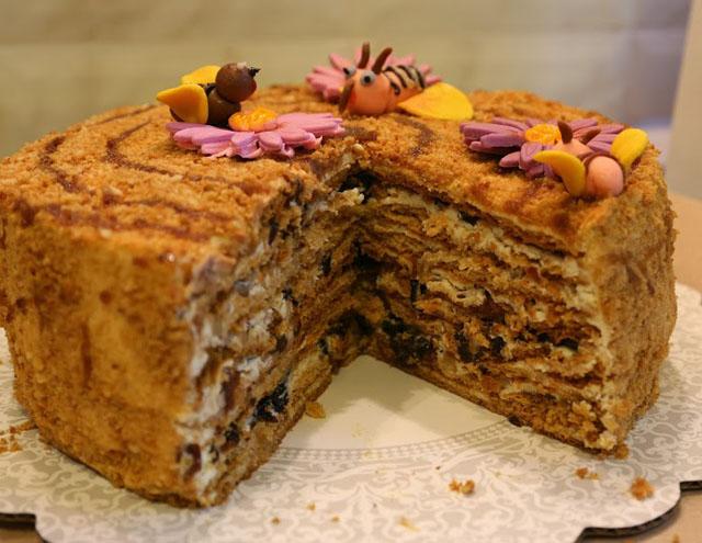 торт медовый домашний рецепт с пчелками фото