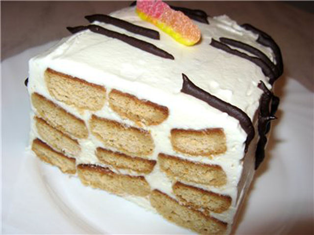 Торт медовое поленце