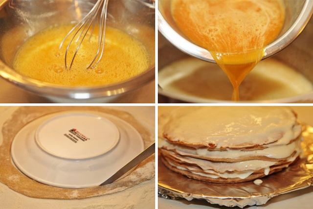 Пошаговый рецепт медовый торт