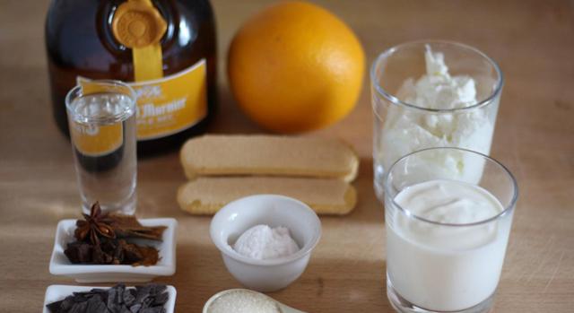 Творог и йогурт с апельсином