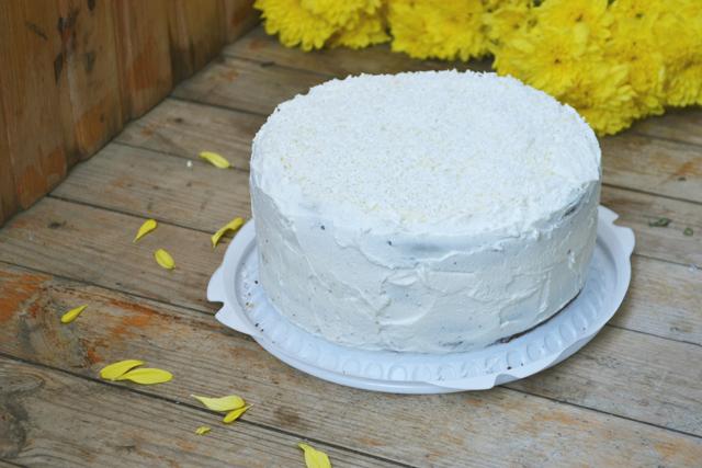 Торт и цветы