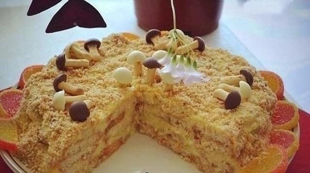 Торт с грибками