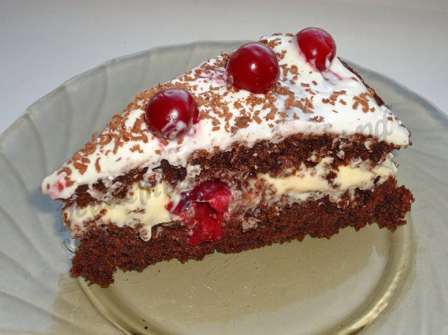 Крем для бисквитного торта с вишней