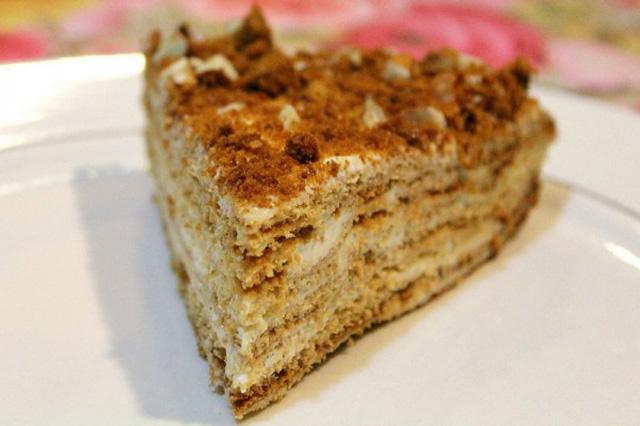 Торт рыжик со сметанной
