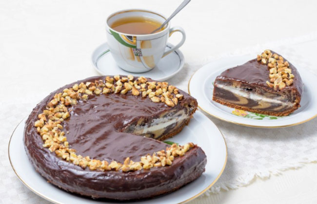 Рецепт зебра торта в домашних условиях