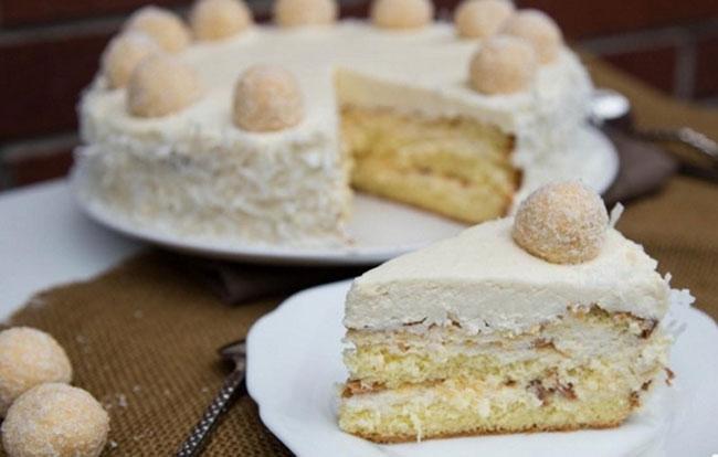 Торт Рафаэлло - рецепт с фото пошагово в домашних условиях