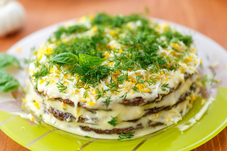 Торт печеночный - классический рецепт