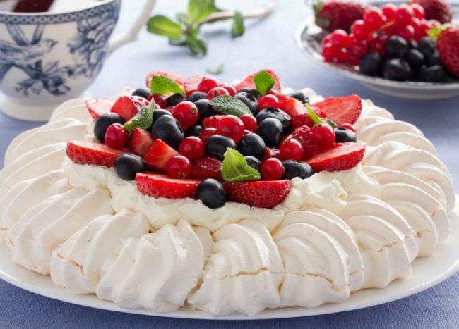 Торт Павлова - пошаговый рецепт с фото