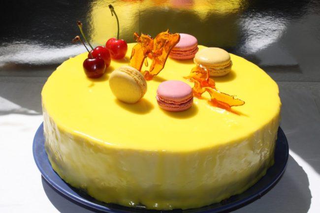 Красивый творожный торт