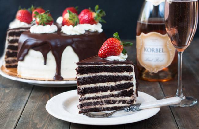 Шоколадный бисквитный торт очень вкусный и простой рецепт