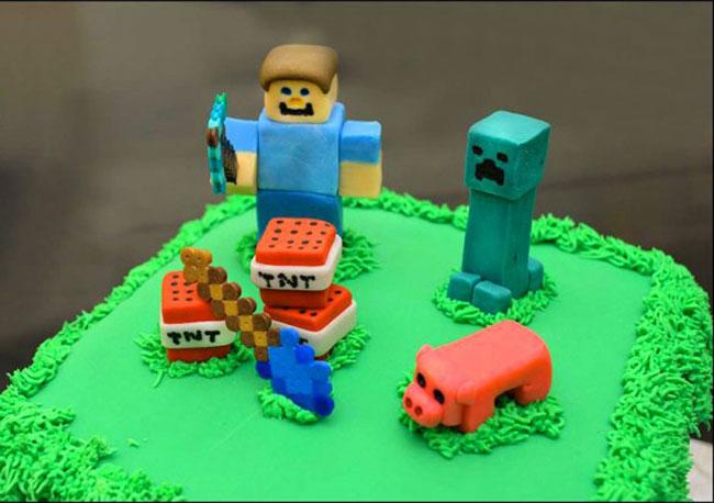 Торты «Майнкрафт» (Minecraft) - заказать недорого в Москве