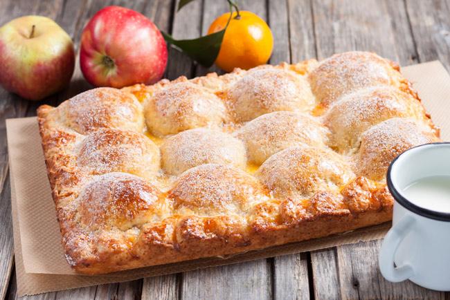 Пирог с яблоками и творогом простой рецепт