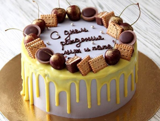 Как сделать на торте шоколадные подтеки