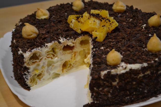 Торт из заварного теста