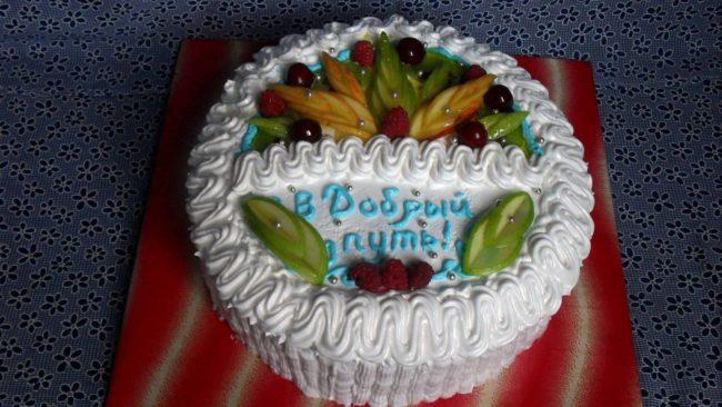 Как сделать надпись на торте?