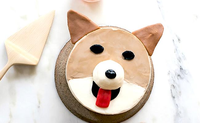 как сделать торт в виде собаки