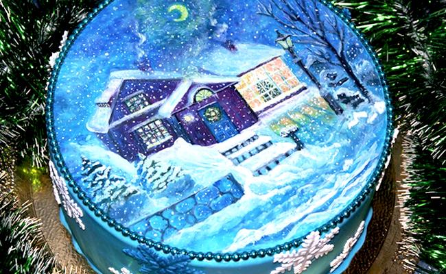 новогодний торт в домашних условиях