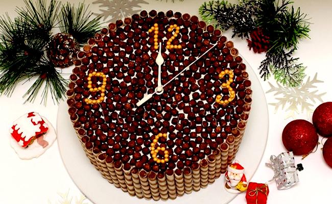 как украсить торт на новый год