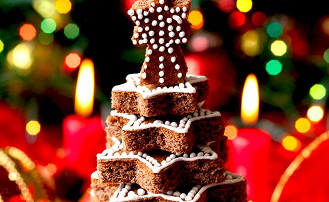 торт в виде елки фото