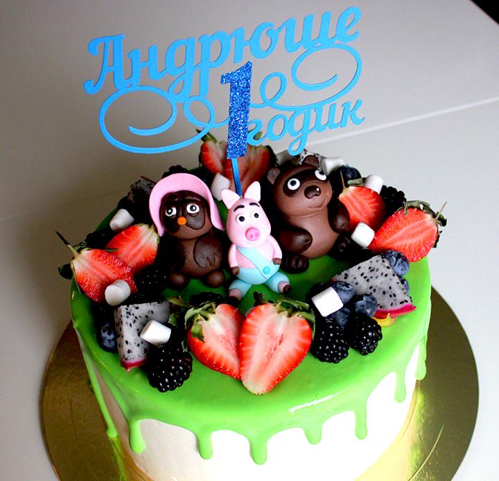 бисквитный торт на годик мальчику