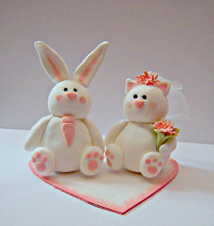 свадебные фигурки из мастики