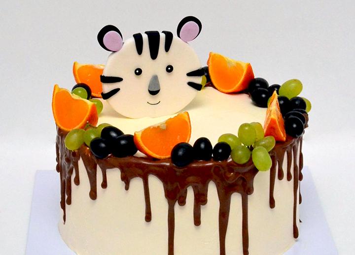 сливочный торт на годик мальчику