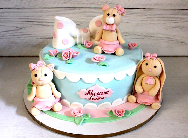 тортик на день рождение девочке на 1 годик