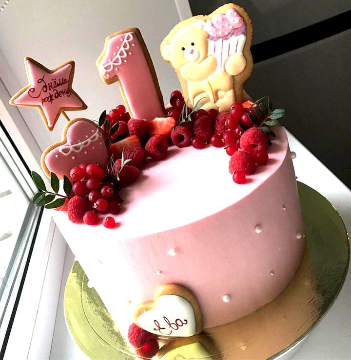 тортик на 1 годик для девочки